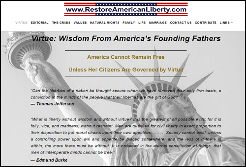 Click for Restore American Liberty website